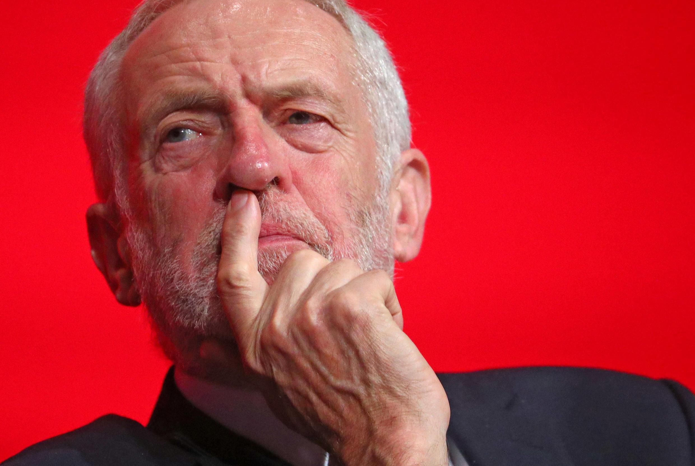 Le chef de l'opposition britannique, le travailliste Jeremy Corbyn.