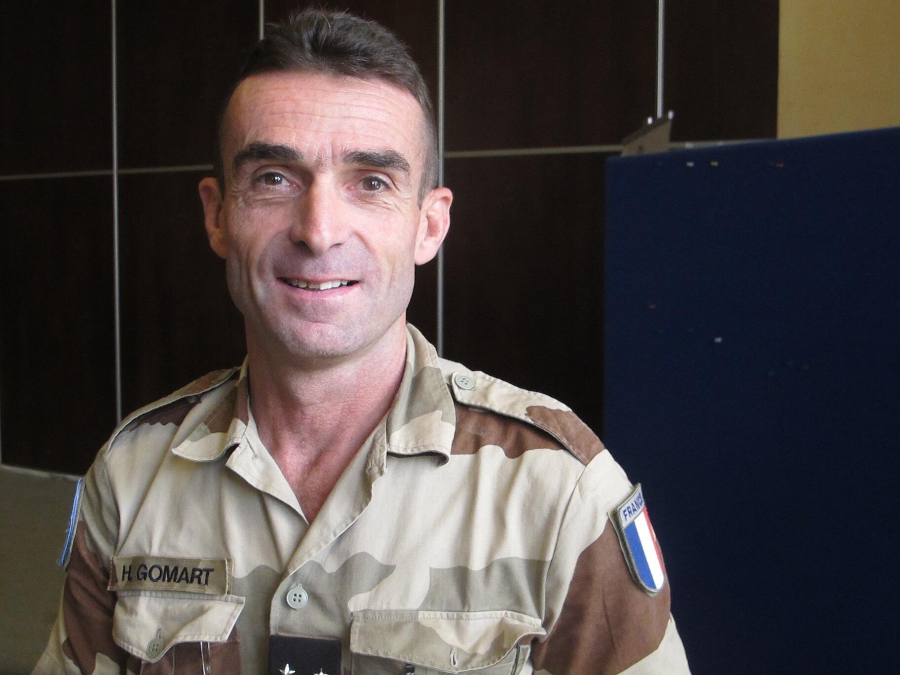 Le général Hervé Gomart, chef d'état-major de la force de la Mission multidimensionnée intégrée des Nations unies au Mali.