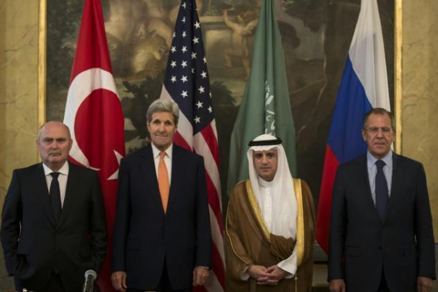 10月23日,美国、俄罗斯、沙特和土耳其四国外长在维也纳就叙利亚危机举行磋商。