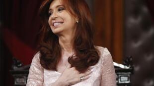 La presidenta Cristina Kirchner