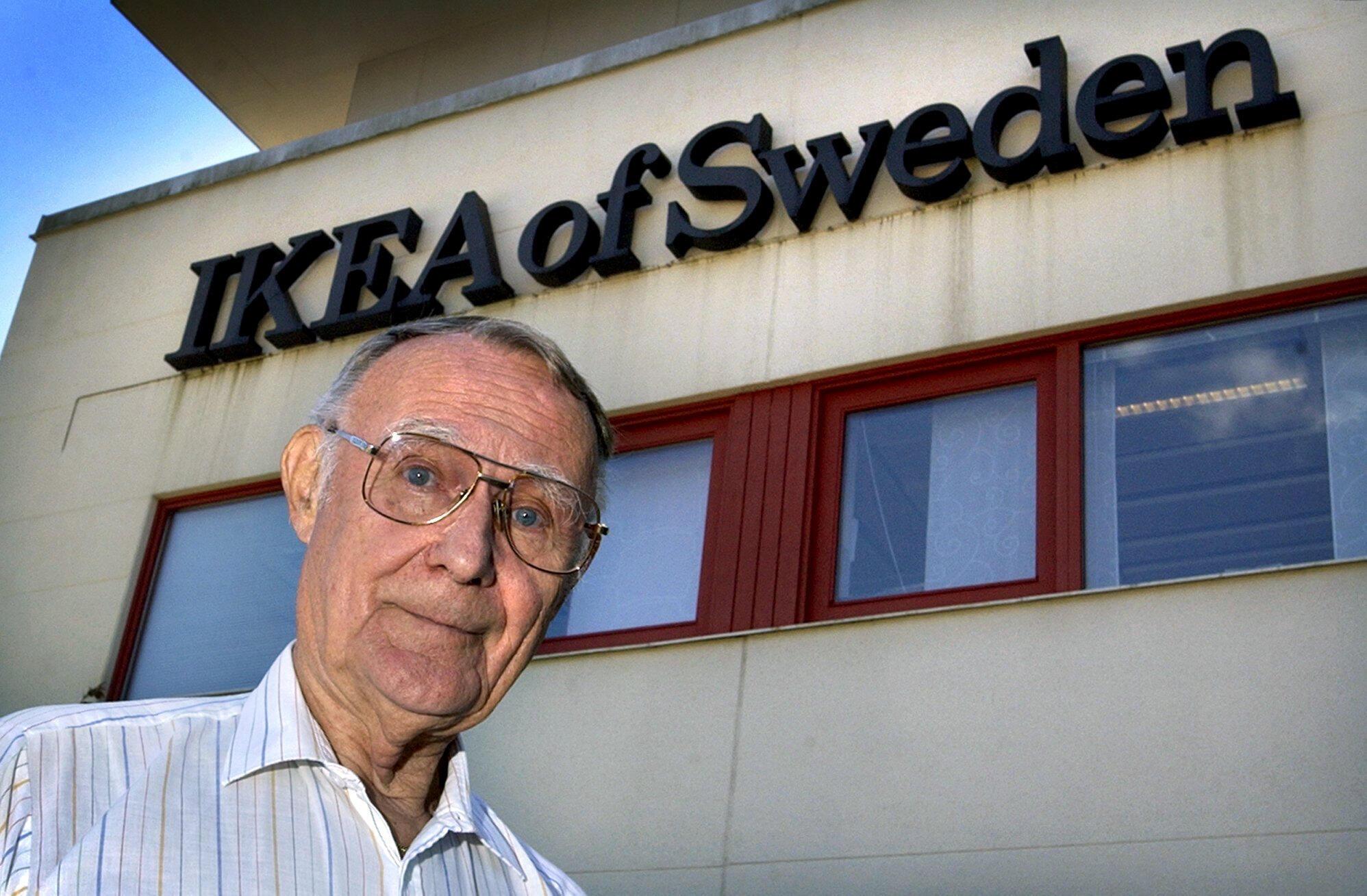 瑞典宜家集團創始人坎普拉德資料圖片