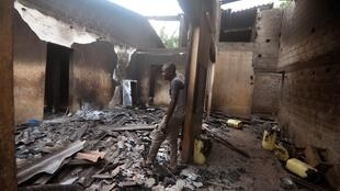 Shops, homes and bars were ransacked and burned down in the clashes