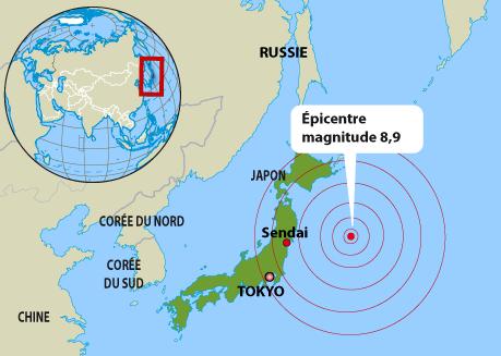 2011年3月11日日本發生9級地震