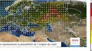 法國輻射防護與安全研究院製作的圖