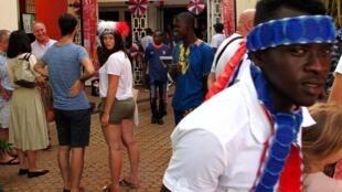 Les supporters français ont suivi le match au centre culturel franco-guinéen de Conakry.