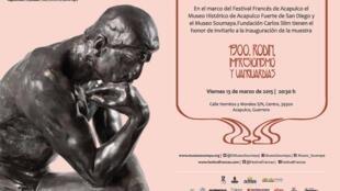 Affiche de l'exposition «Rodin 1900, impressionnisme et avant-gardes», présentée au Festival français d'Acapulco.