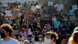 Manifestation contre le racisme à Boston, près d'un mois après le dèces de George Floyd. Le 23 juin 2020. (Illustration).