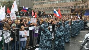 На митинге за свободные выборы и против политических преследований в Москве, 10 августа 2019 г.