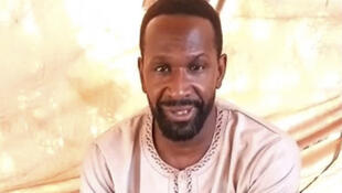 A screen grab from the video shows French journalist Olivier Dubois saying he was kidnapped in Mali last month