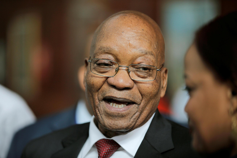 Jacob Zuma, na Etiópia, em janeiro de 2018.