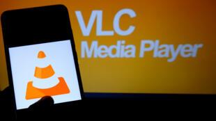 Le logo du logiciel VLC, un cône de chantier orange, a fait sa légende.