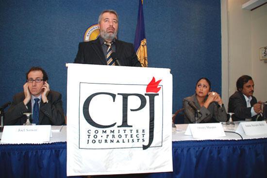 Ảnh minh họa : Logo của  Ủy ban Bảo vệ Nhà báo CPJ.