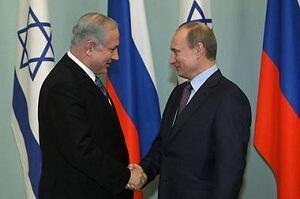 Thủ tướng Israel Benjamin Netanyahu và tổng thống Nga Vladimir Putin (Reuters)