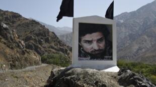 Un portrait du commandant Massoud, dans la vallée du Pandjchir. L'icône de la résistance aux Talibans y était particulièrement populaire.