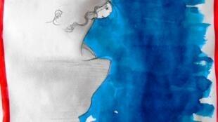 Dessin réalisé à partir de «Ecouter les souvenirs de Barbara D'Antuono ».