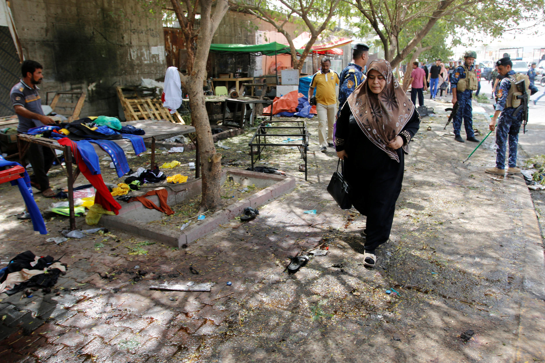 Место в квартале Хадимия, где произошел взрыв, Багдад, Ирак, 24 июля 2016 г.