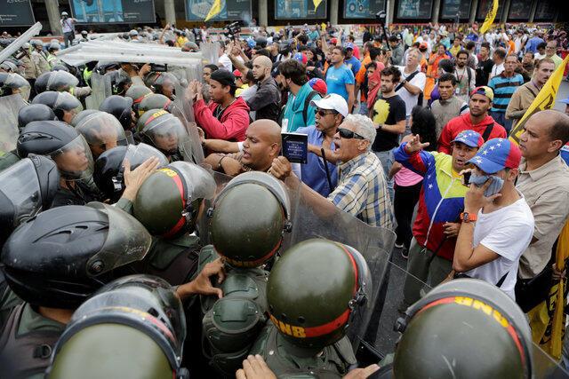 Maandamano dhidi ya Rais Nicolas Maduro Caracas, Venezuela, Mei 11, 2016.