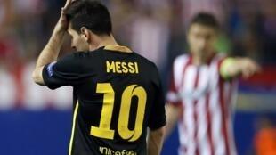 Lionel Messi, do Barcelona, em lance da partica contra o Atlético de Madri.