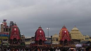 Rath Yatra chariot journey at Lord Jagannath temple in Puri, India