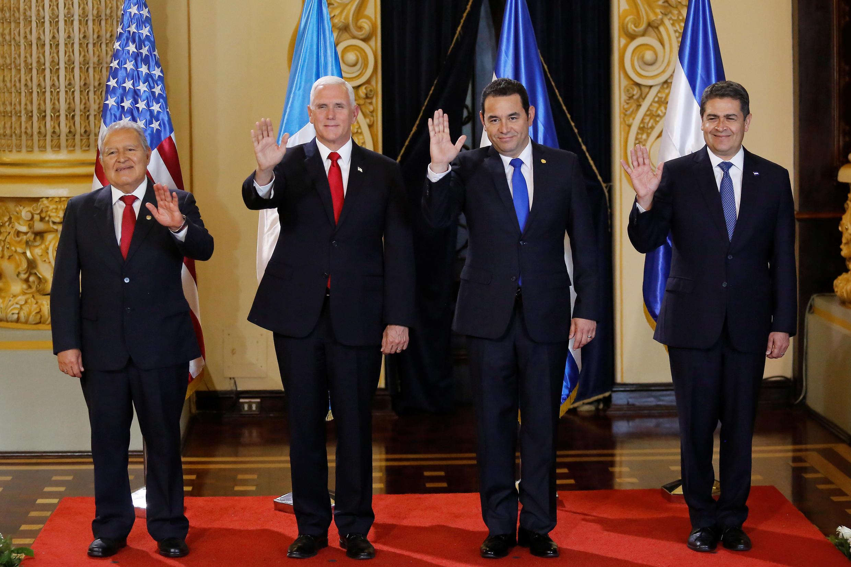Encuentro entre Mike Pence y presidentes Centroamérica