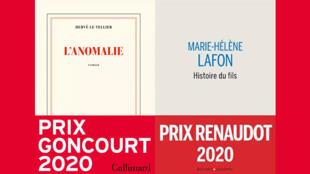 couvertures - anomalie - goncourt - histoire du fils - renaudot