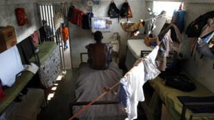 Une cellule de la prison de Fort Dimanche (centre de détention pour mineurs), en Haïti.
