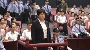 Gu Kailai durante seu processo no dia 9 de agosto de 2012.