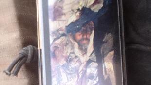 Photographie du portable d'un militaire tchadien, présentée comme celle de Mokhtar Belmokhtar mort.
