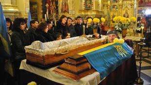 Похороны бойца 24-го батальона территориальной обороны «Айдар» Виктора Гурняка