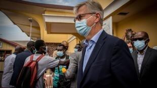 Jean-Pierre Lacroix, Secrétaire général adjoint  des nations unies chargé des opérations de maintien de la paix en visite le mercredi 2 juin 2021 à Bangui