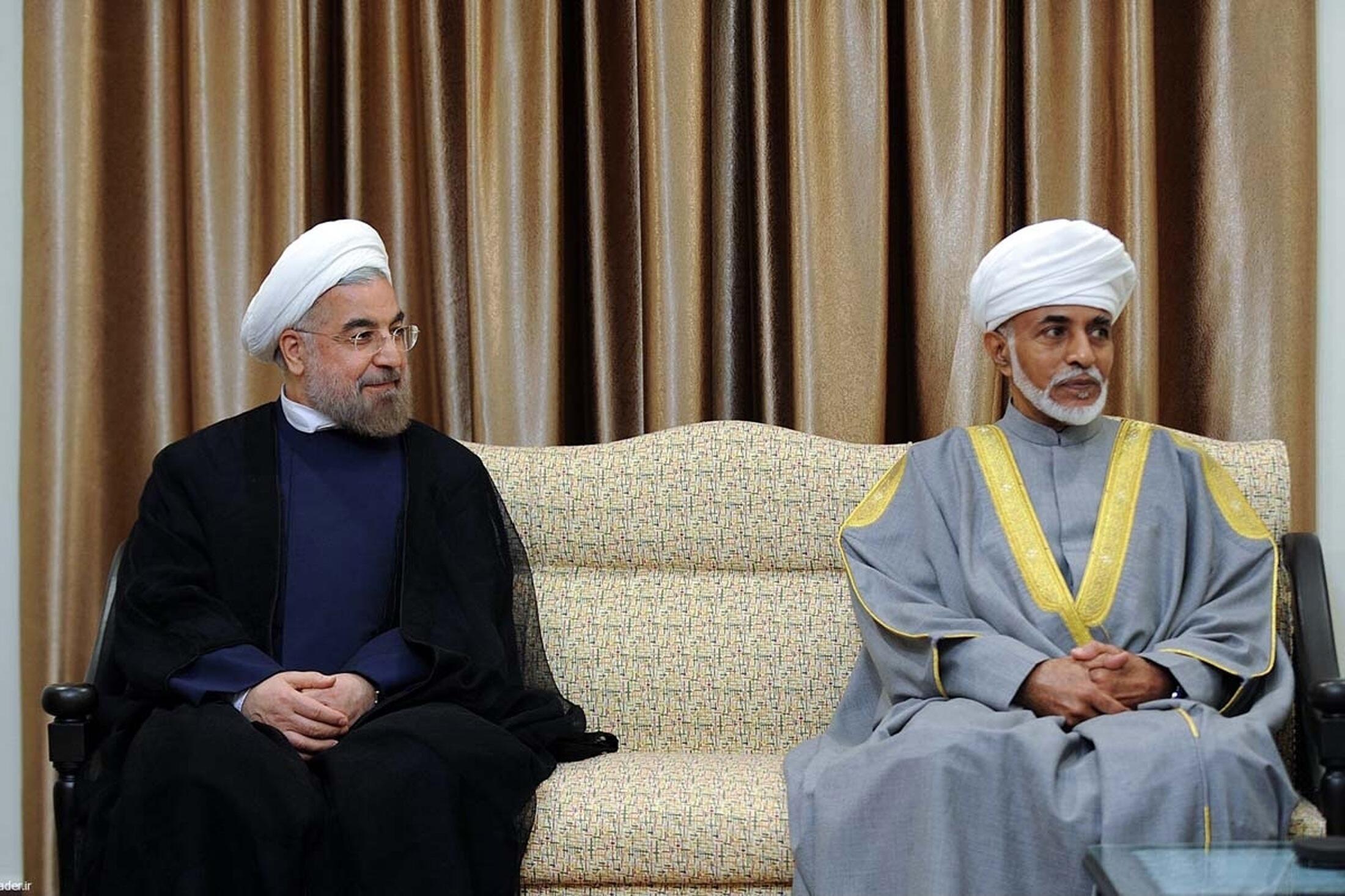 Президент Хассан Рухани (Л) и султан Омана Кабос бин Саид в Тегеране 26/08/2013