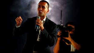 FILE PHOTO: Italian Deputy PM Luigi Di Maio speaks at the 5-Star Movement party's open-air rally at Circo Massimo in Rome, Italy, October 20, 2018.