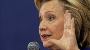 Bà Hillary Clinton trong chiến dịch tranh cử sơ bộ tại Claremont, New Hampshire, ngày 11/08/2015.