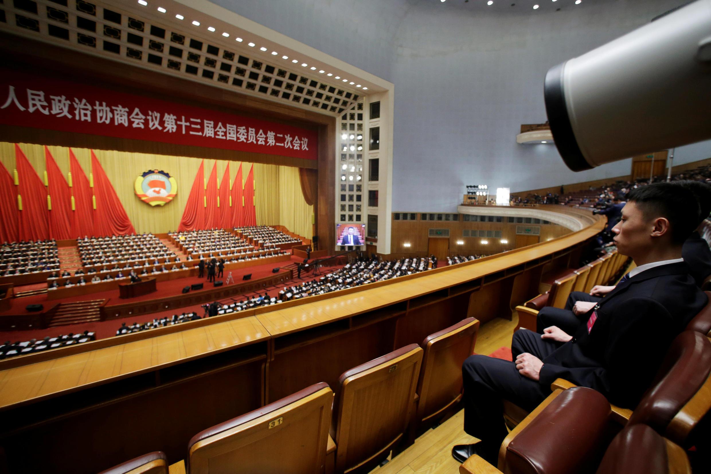 Toàn cảnh hội trường diễn ra kỳ họp Quốc Hội, chính thức khai mạc vào ngày 05/03/2019.