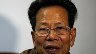 资料图片:乌坎村委会主任林祖恋。图片摄于2014年3月31日。