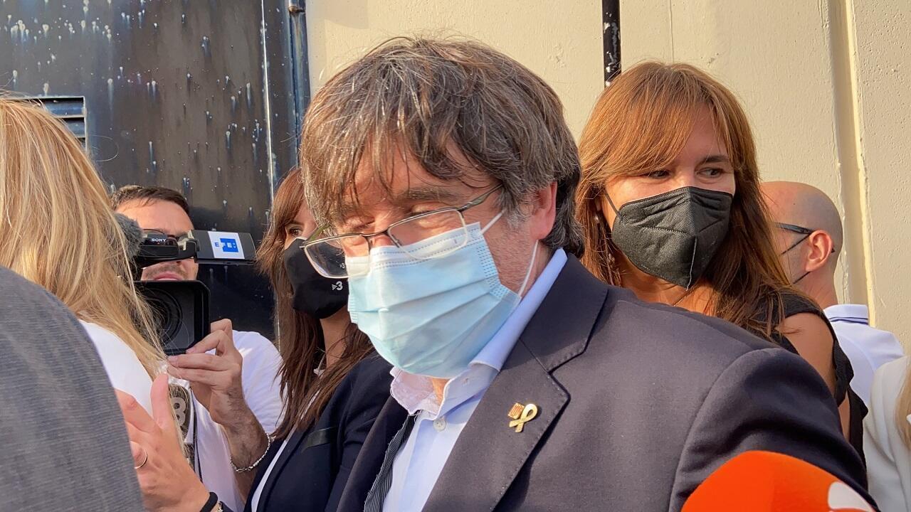 PHOTO Carles Puigdemont Sortie de prison - 24 septembre 2021
