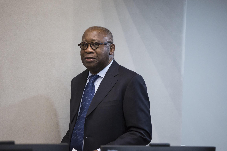 L'ancien président ivoirien Laurent Gbagbo, le 28 janvier 2016, lors d'une audience à la Cour pénale internationale à La Haye (Pays-Bas).