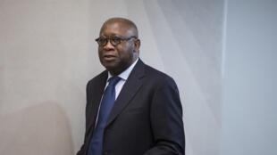 L'ancien président ivoirien Laurent Gbagbo, le 28 janvier 2016, lors d'une audience à la Cour pénale internationale de La Haye (Pays-Bas)