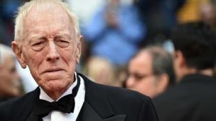 L'acteur franco-suédois Max von Sydow, ici au Festival de Cannes 2016, est décédé le 8 mars 2020, à l'âge de 90 ans.