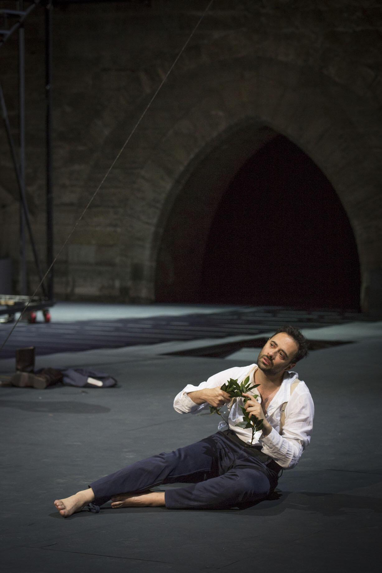 Ксавье Галле в роли принца Гомбургского. Авиньон 4 -13 июля 2014.
