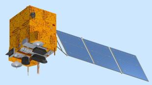 Concepção artística do satélite CBERS 3.