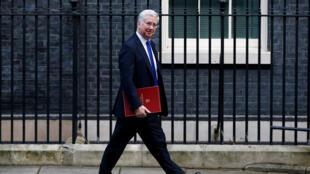 Foto de archivo: el ministro británico de Defensa, Michael Fallon, sale de una reunión de gabinete Downing Street, Londres, el 17 de enero de 2017.