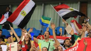 Des supporters de l'Egypte lors de la CAN 2017.