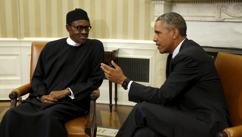 Shugaba Muhammadu Buhari na Najeriya da Shugaba Obama na Amurka