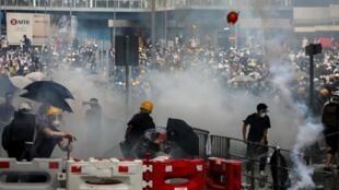 Manifestation du 12 juin 2019 à Hong Kong.