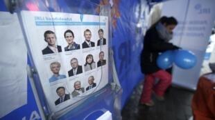 Một phòng bỏ phiếu tại Tallinn, ngày 01/03/2015.