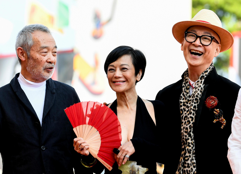 Тянь Чжуанчжуан, Сильвия Чан и Юньфань на красной дорожке Венецианского кинофестиваля