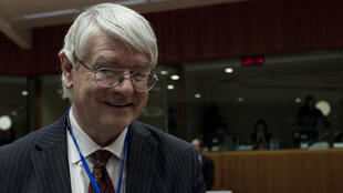 Irish Finance Minister Martin Mansergh in Brussels