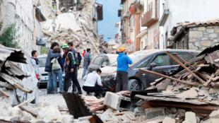 Le séisme a fait beaucoup de dégâts à Amatrice, une petite ville du centre de l'Italie.