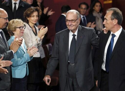 L'ancien président Jacques Chirac en novembre 2014 lors d'une cérémonie organisée par sa fondation au musée du Quai Branly.